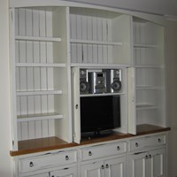 Rustic painted bookcase.jpg